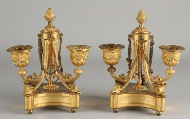 Two early 19th century ormolu French bronze