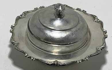 VINTAGE PERUANA STERLING SILVER BUTTER DISH