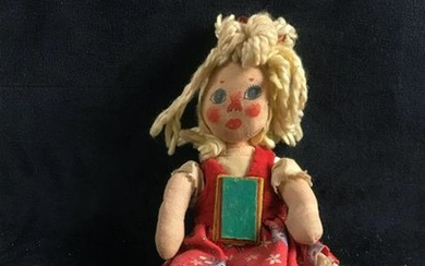 Vintage Hand Made Primitive Folk Fabric Doll