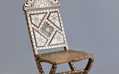 chair, probably Morocco, around 1890, hardwood, dark...