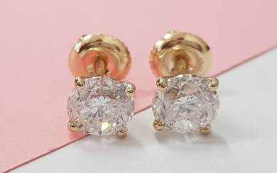 14 kt. Yellow gold - Earrings Diamond