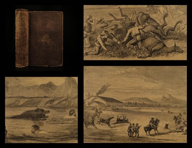 1870 America INDIANS Oregon Rocky Mountains Illustrated