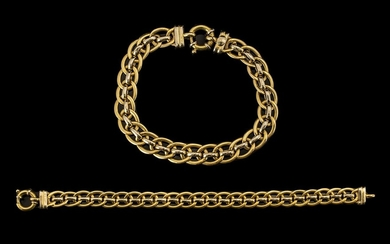 18ct Gold Attractive Good Quality Link Bracelet of Pleasing ...