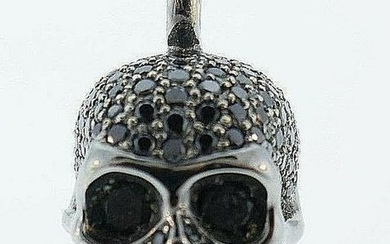 18k Blackened Gold Black Diamond CADA Schmuck Skull