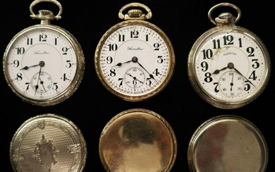 3 Railroad Type Watches