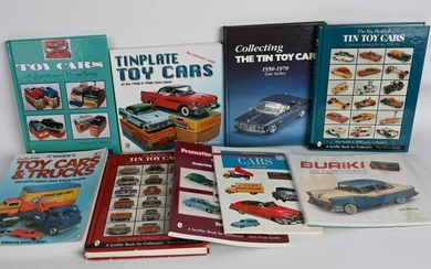 9-TOY CAR & TRUCK REFERENCE BOOKS