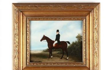 A Contemporary Decorative Equestrian Portrait Painting