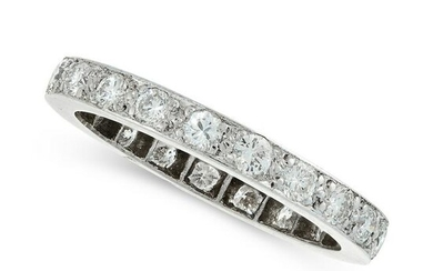 A DIAMOND ETERNITY BAND RING comprising a single row of