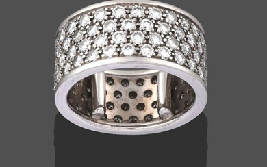 A Diamond Eternity Ring, by Picchiotti, four rows of round...