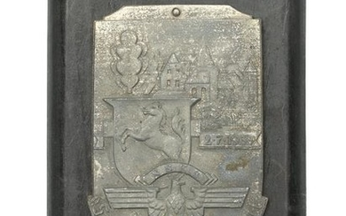 A GERMAN WWII NSKK PLAQUE FOR 1939 DRIVE