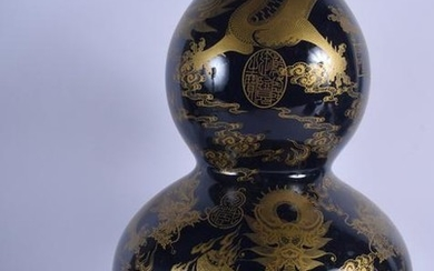 A LARGE CHINESE DOUBLE GOURD PORCELAIN VASE. 43 cm