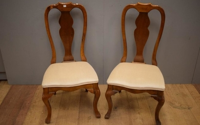 A PAIR OF HIGH BACK OAK CHAIRS