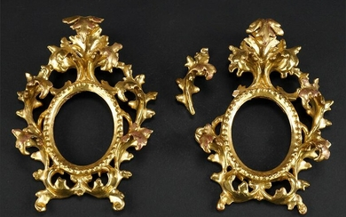 A Pair of Baroque Style Gilt Wood Frames.