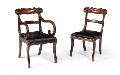 A composite set of sixteen Regency mahogany dining chairs, circa 1815