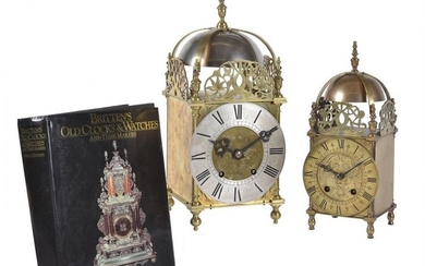 A gilt brass lantern clock