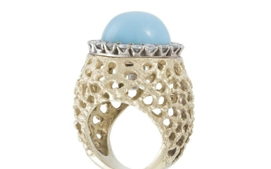A gold, diamond and gem-set interchangeable ring