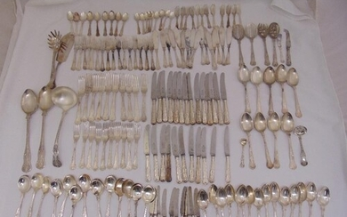 A quantity of silver plated Kings pattern flatware to includ...