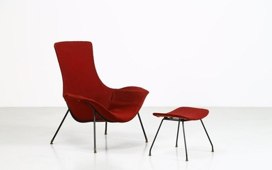 AUGUSTO BOZZI Armchair with footrest.