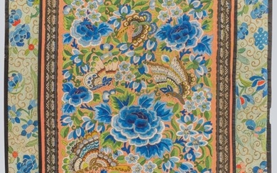 An Embroidered Panel, China.