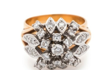 BICOLOR GOLD AND DIAMOND RING