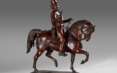 Bronze equestrian group representing William I, known as the Taciturn, Prince of Orange (1533-1584).