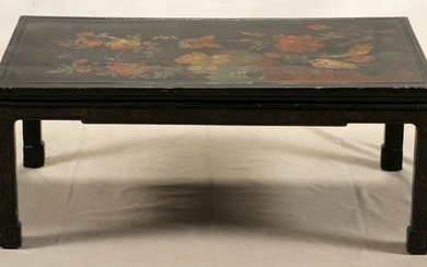 CHINESE COROMANDEL PANEL SET INTO COFFEE TABLE