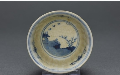 CHINESE QING BLUE AND WHITE PORCELAIN BOWL