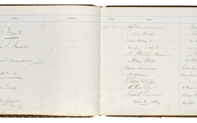 [CHURCHILL]--MONORAIL | visitors' book signed by Churchill and others, 1910-11