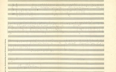 Charles GOUNOD. Manuscrits musicaux autographes, [vers 1880] ;...