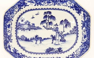 Chinese 18th Cent. Deer and Scholar Export Porcelain