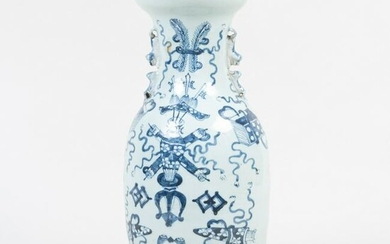 Chinese Blue and White Porcelain Vase Mounted as a Lamp