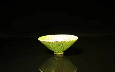 Chinese Green Glaze Porcelain Cup