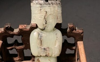 Chinese Han Dynasty Jade Carving of Lady