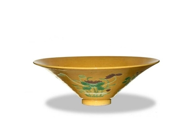 Chinese Sancai Dou-Li Bowl, Late Qing Dynasty