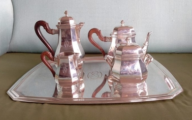 Coffee and tea service (5) - .950 silver - Tetard freres - Paris- France - First half 20th century