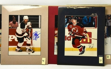 Collection Jersey Devils Hockey Autographed Photos