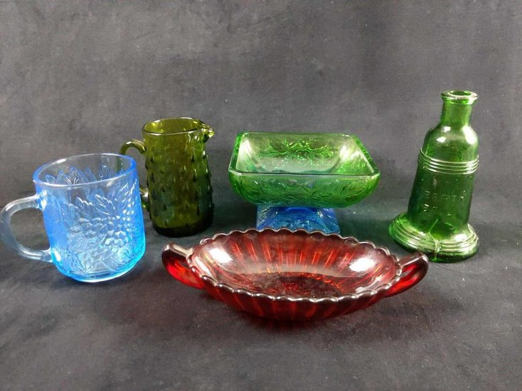 Colorful Glass Lot of 5