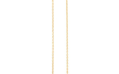 Description A GOLD AND DIAMOND PENDANT NECKLACE, BY FRED...