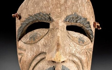 Early 20th C. Mexican Guerrero Wood Dance Mask