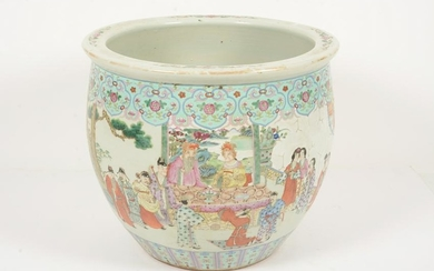 Famille Rose Porcelain Fish Bowl