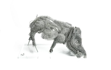 French Wire Boar Sculpture