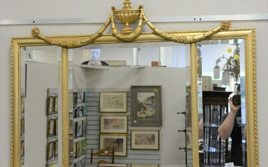 Group of 3 mirrors to include Ethan Allen over the
