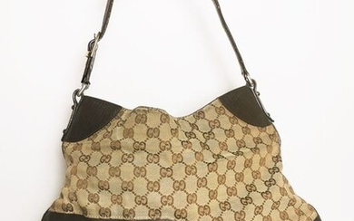 Gucci - GUCCI VINTAGE GG MONOGRAM CANVAS HORSEBIT HOBO Shoulder bag