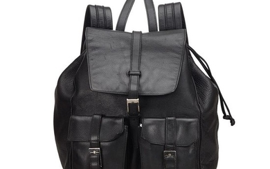 Gucci - Leather Drawstring Backpack Backpack