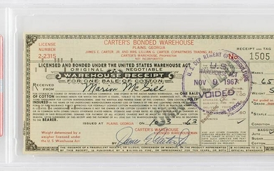 Jimmy Carter Document Signed