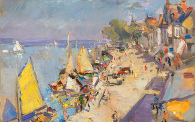 Konstantin Korovin (1861-1939), A French port in summer