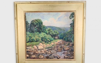 Landscape Painting, Signed Norman David