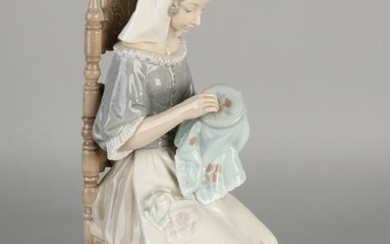 Large Spanish Lladro porcelain figure. Working hand