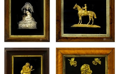 Lot 4 19th C. English Dore Bronze Relief Plaques