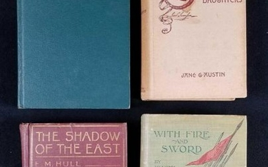 Lot of 4 Vintage History and Adventure Books From The